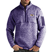 Antigua Men's Baltimore Ravens Fortune Purple Pullover Jacket
