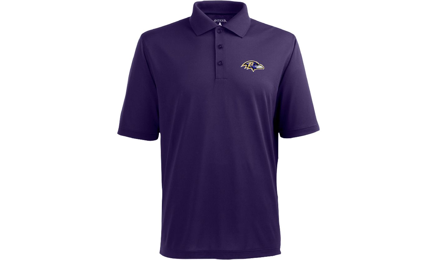 Antigua Men's Baltimore Ravens Purple Pique Xtra-Lite Polo