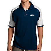 Antigua Men's Seattle Seahawks Century Navy Polo