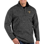 Antigua Men's New Orleans Saints Fortune Black Pullover Jacket