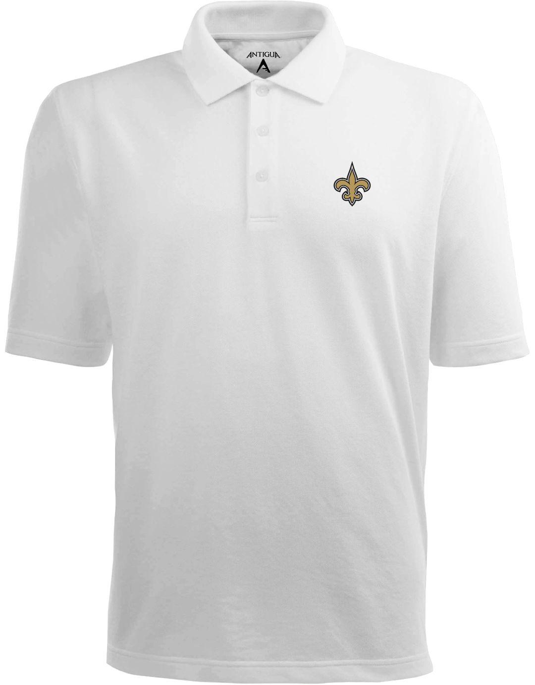 pretty nice c5efa 4038c Antigua Men's New Orleans Saints Pique Xtra-Lite White Polo