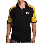Antigua Men's Pittsburgh Steelers Century Black Polo