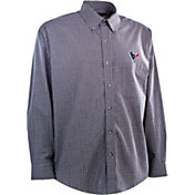 Antigua Men's Houston Texans Esteem Navy Long Sleeve Shirt