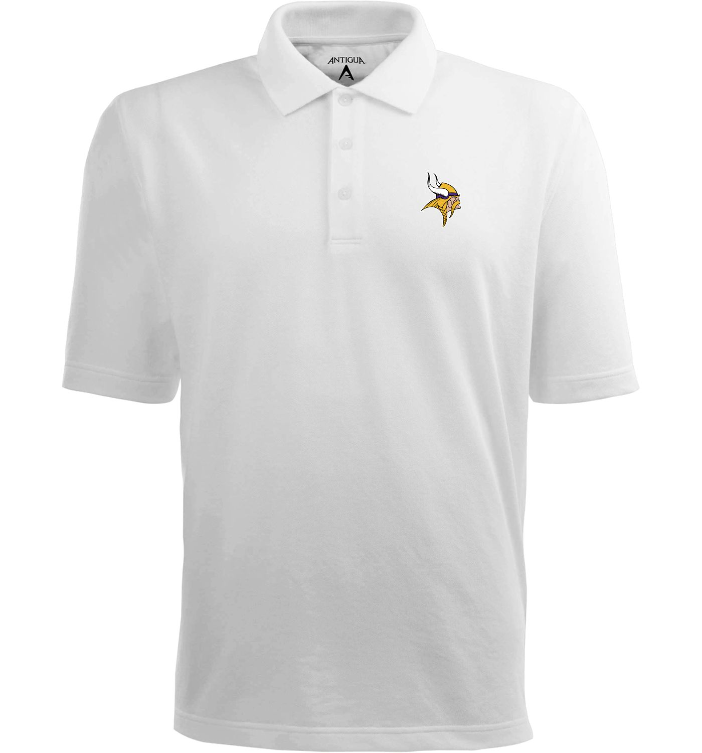 Antigua Men's Minnesota Vikings Pique Xtra-Lite White Polo