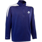 Antigua Men's Toronto Maple Leafs Royal Succeed Quarter-Zip Jersey Fleece Top