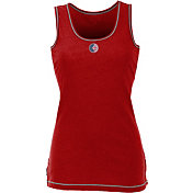 Antigua Women's Chicago Cubs Patriotic Logo Red Sport Tank Top