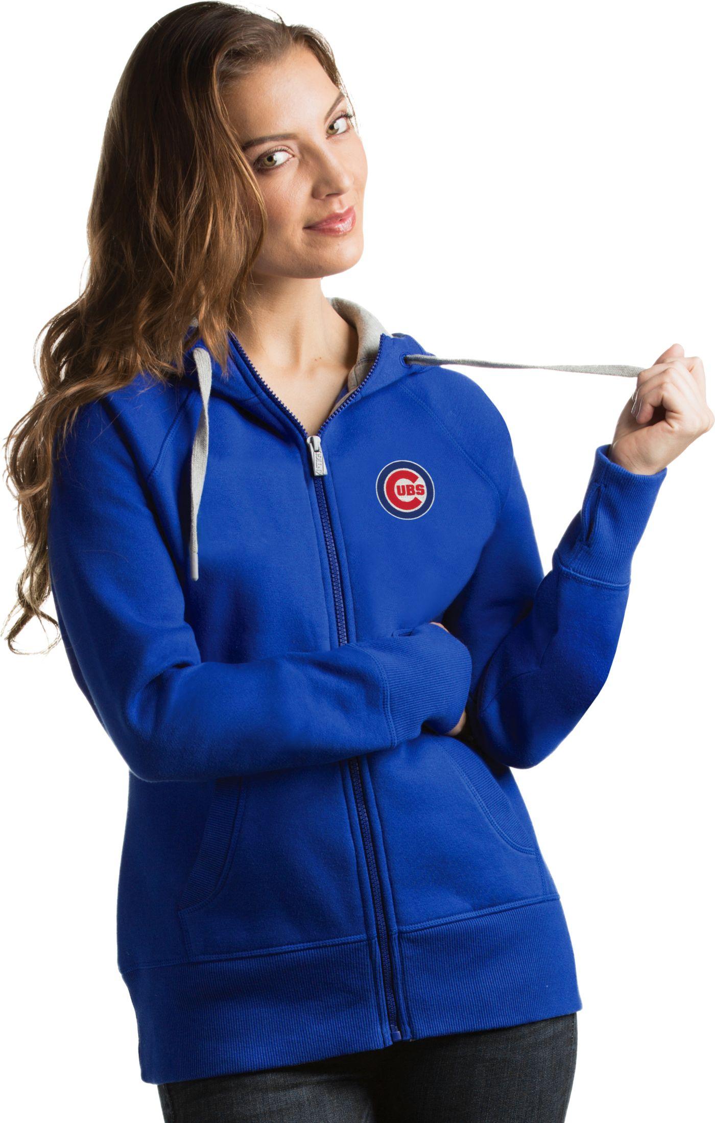 Antigua Women's Chicago Cubs Royal Victory Full-Zip Hoodie