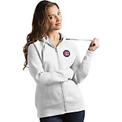 Antigua Women's Chicago Cubs White Victory Full-Zip Hoodie