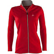 Antigua Women's St. Louis Cardinals Leader Red Full-Zip Jacket