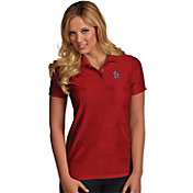 Antigua Women's St. Louis Cardinals Illusion Red Striped Performance Polo