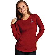 Antigua Women's St. Louis Cardinals Flip Red Long Sleeve V-Neck Shirt