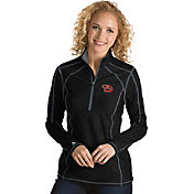 Antigua Women's Arizona Diamondbacks Black Tempo Quarter-Zip Pullover