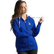 Antigua Women's Los Angeles Dodgers Royal Victory Full-Zip Hoodie
