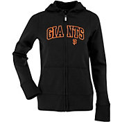 Antigua Women's San Francisco Giants Black Signature Full-Zip Fleece Hoodie