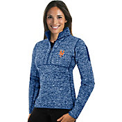 Antigua Women's New York Mets Royal Fortune Half-Zip Pullover