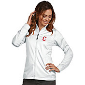 Antigua Women's Cleveland Indians Full-Zip White Golf Jacket