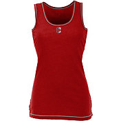 Antigua Women's Cleveland Indians Patriotic Logo Red Sport Tank Top