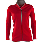 Antigua Women's Los Angeles Angels Leader Red Full-Zip Jacket