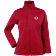 Antigua Women's Cincinnati Reds Traverse Soft Shell Full-Zip Red Jacket