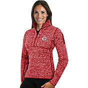 Antigua Women's Cincinnati Reds Red Fortune Half-Zip Pullover