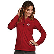 Antigua Women's Cincinnati Reds Full-Zip Red  Golf Jacket
