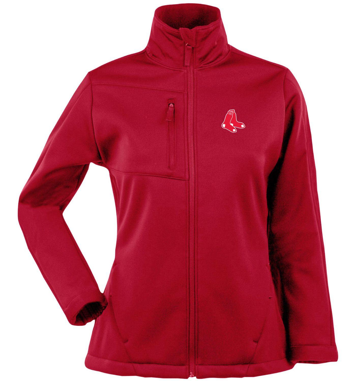 Antigua Women's Boston Red Sox Traverse Soft Shell Full-Zip Red Jacket