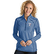 Antigua Women's Texas Rangers Royal Tempo Quarter-Zip Pullover