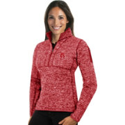 Antigua Women's Boston Red Sox Red Fortune Half-Zip Pullover