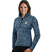 Antigua Women's Houston Astros Navy Fortune Half-Zip Pullover