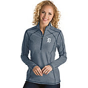 Antigua Women's Detroit Tigers Navy Tempo Quarter-Zip Pullover