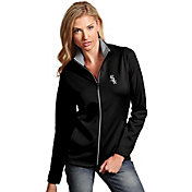 Antigua Women's Chicago White Sox Leader Black Full-Zip Jacket