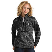 Antigua Women's Chicago White Sox Black Fortune Half-Zip Pullover