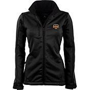 Antigua Women's Houston Dynamo Traverse Black Soft-Shell Full-Zip Jacket