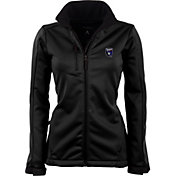 Antigua Women's San Jose Earthquakes Traverse Black Soft-Shell Full-Zip Jacket