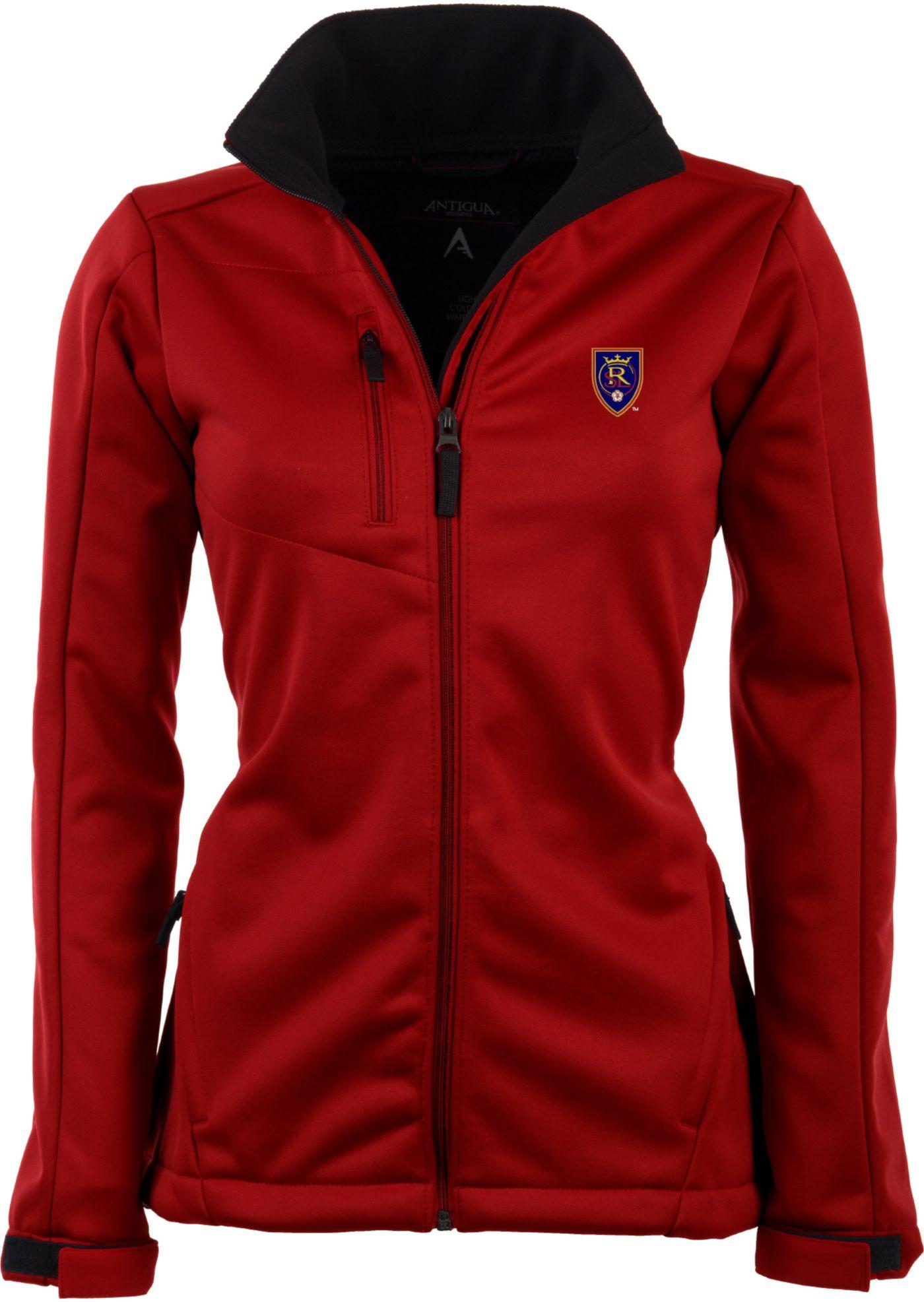 Antigua Women's Real Salt Lake Traverse Red Soft-Shell Full-Zip Jacket
