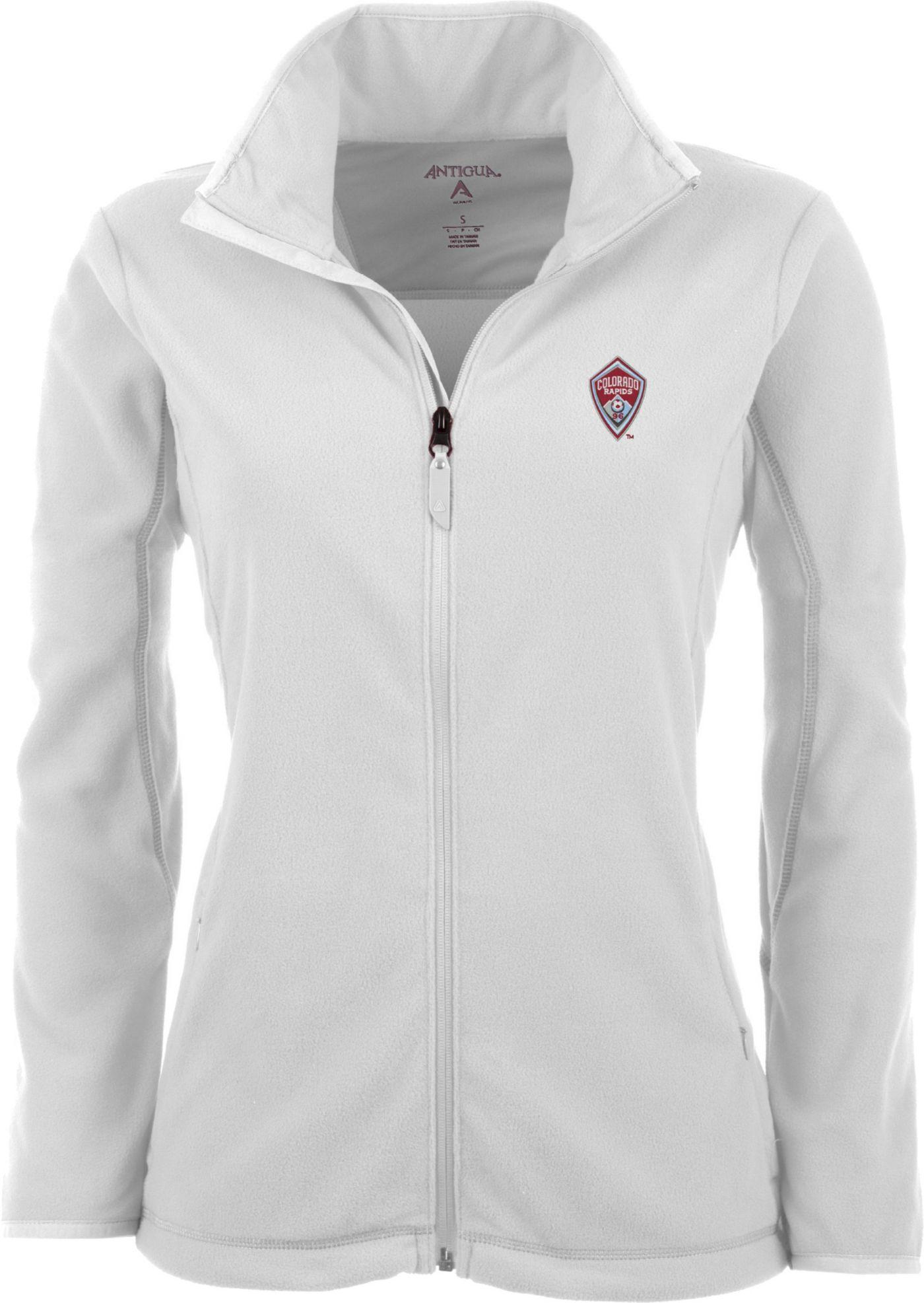 Antigua Women's Colorado Rapids White Ice Full-Zip Fleece Jacket