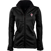 Antigua Women's Colorado Rapids Traverse Black Soft-Shell Full-Zip Jacket