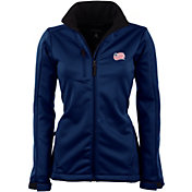 Antigua Women's New England Revolution Traverse Navy Soft-Shell Full-Zip Jacket
