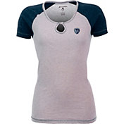 Antigua Women's Sporting Kansas City Crush Grey/Navy T-Shirt
