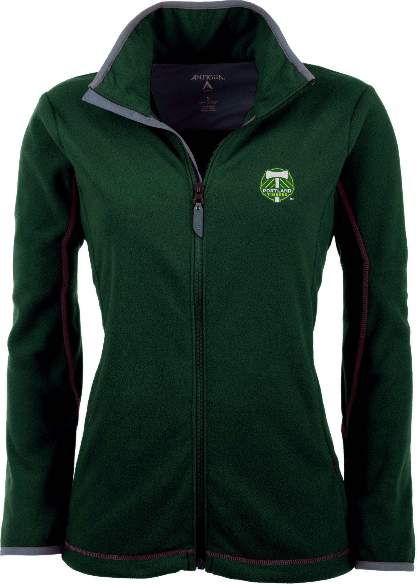 Antigua Women's Portland Timbers Hunter Green Ice Full-Zip Fleece Jacket