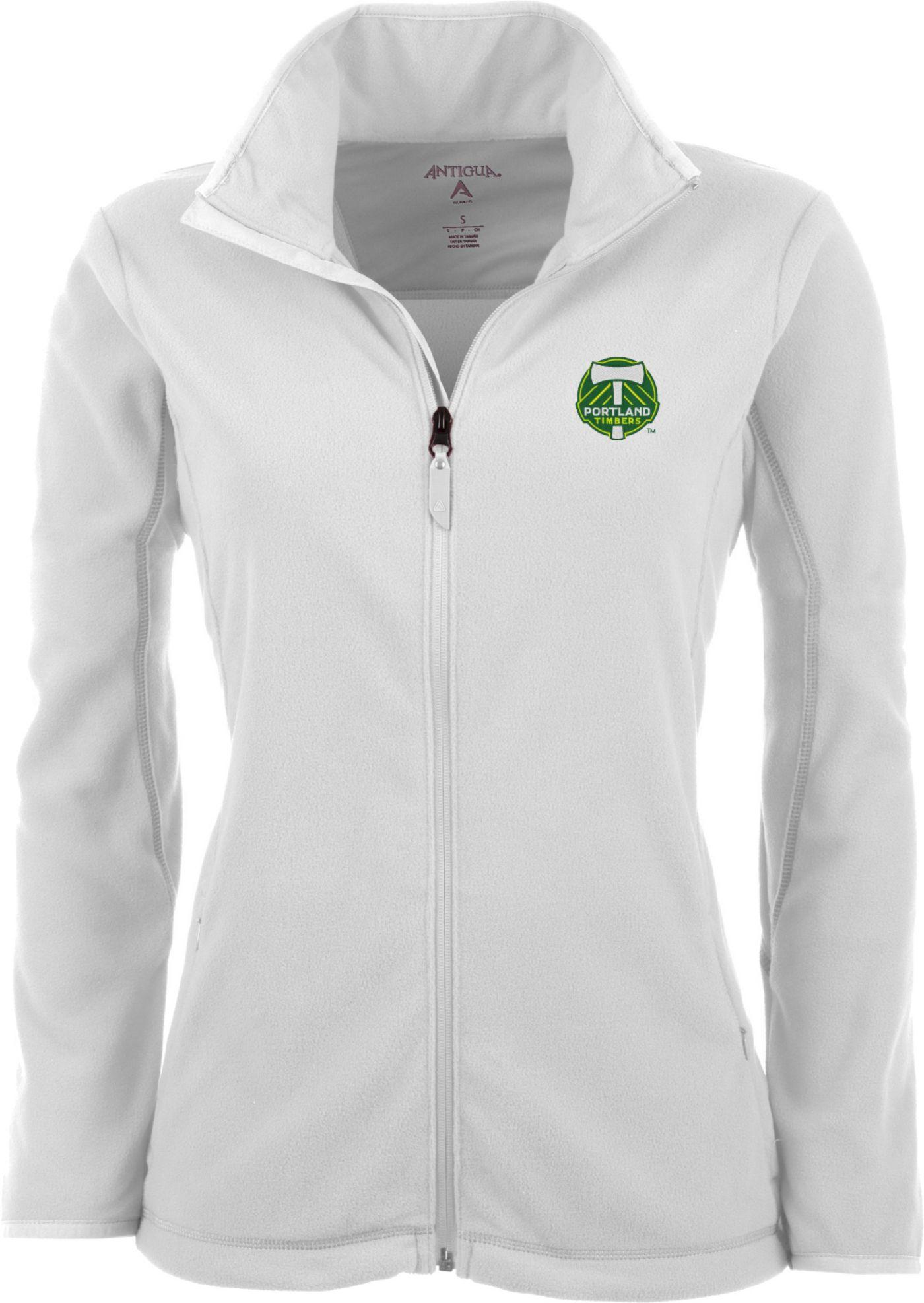 Antigua Women's Portland Timbers White Ice Full-Zip Fleece Jacket