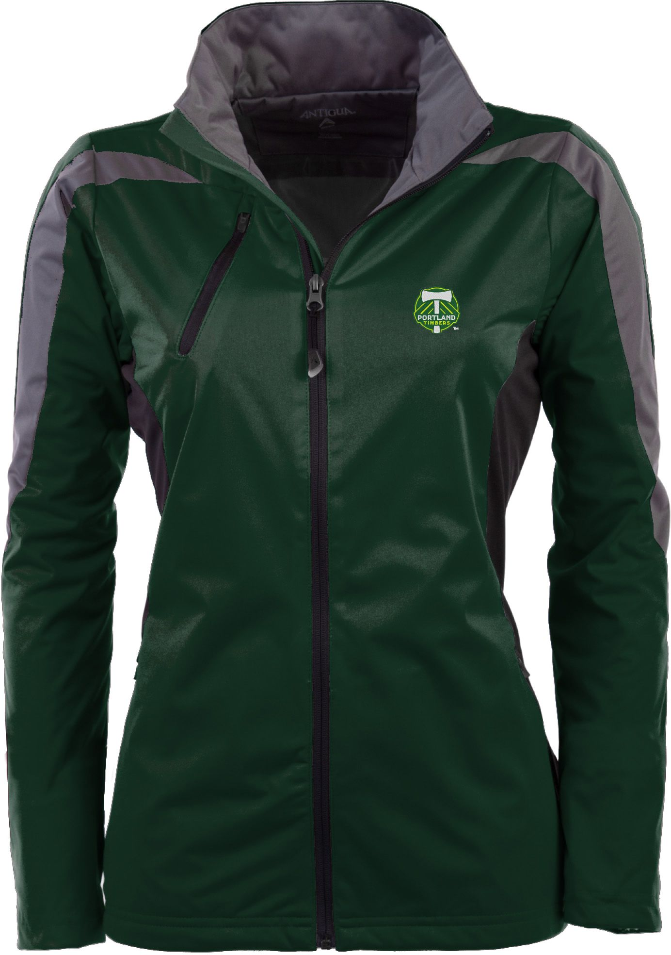Antigua Women's Portland Timbers Hunter Green Discover Full-Zip Jacket, Size: Small, Team thumbnail