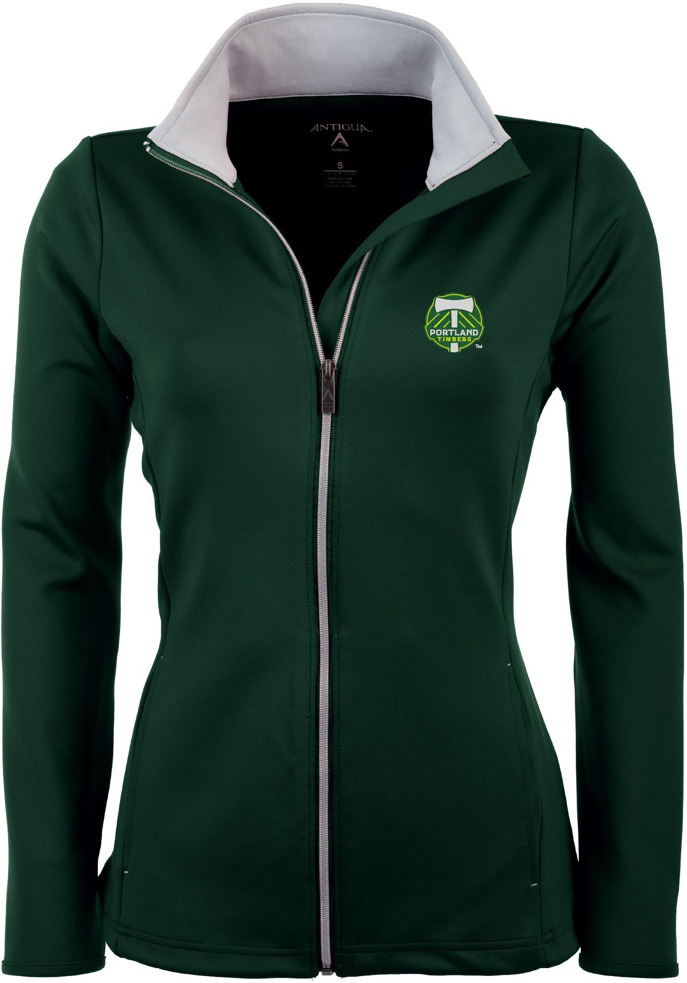 Antigua Women's Portland Timbers Hunter Green Leader Full-Zip Jacket, Size: Medium, Team thumbnail