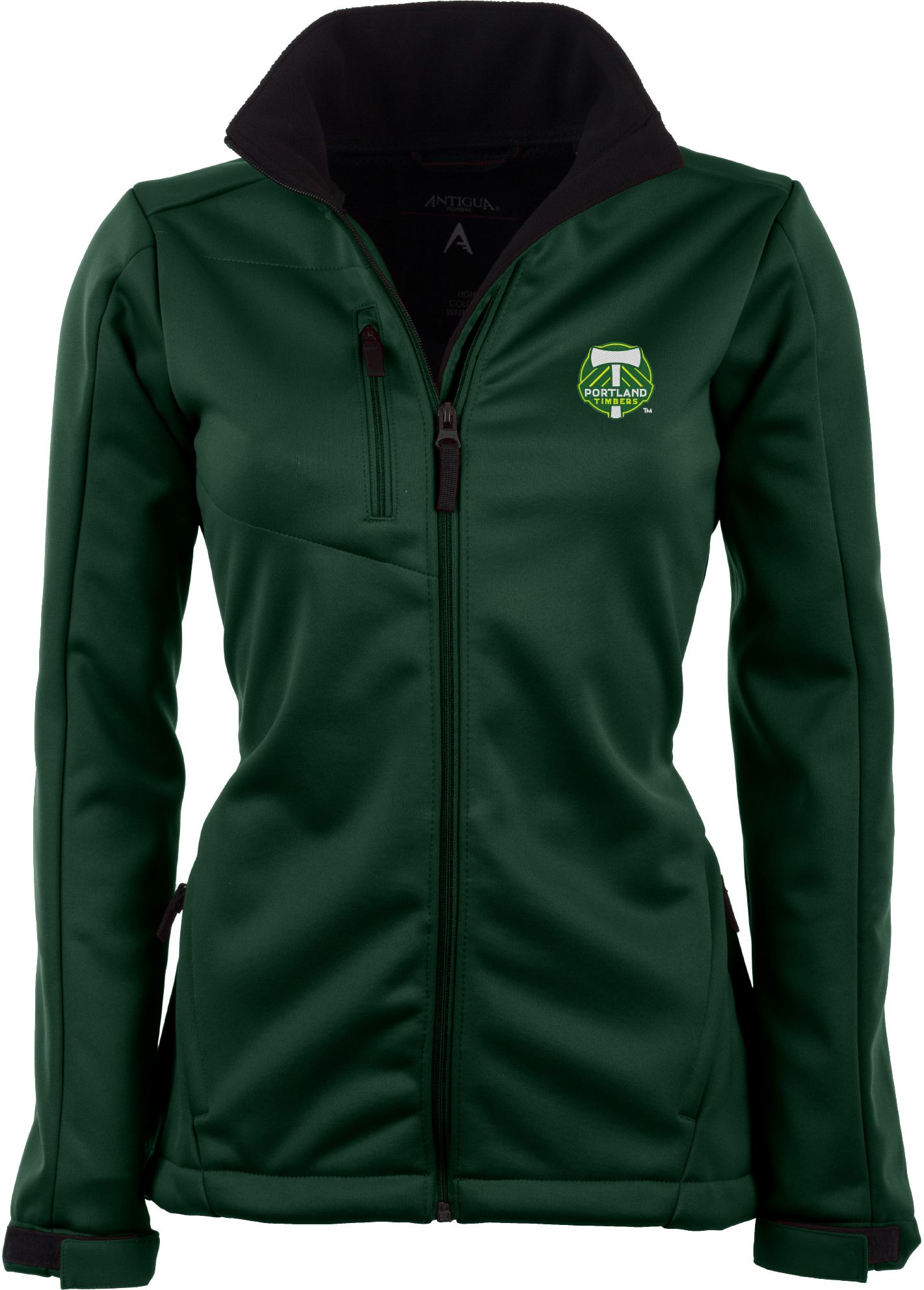 Antigua Women's Portland Timbers Traverse Hunter Green Soft-Shell Full-Zip Jacket, Size: Small, Team thumbnail