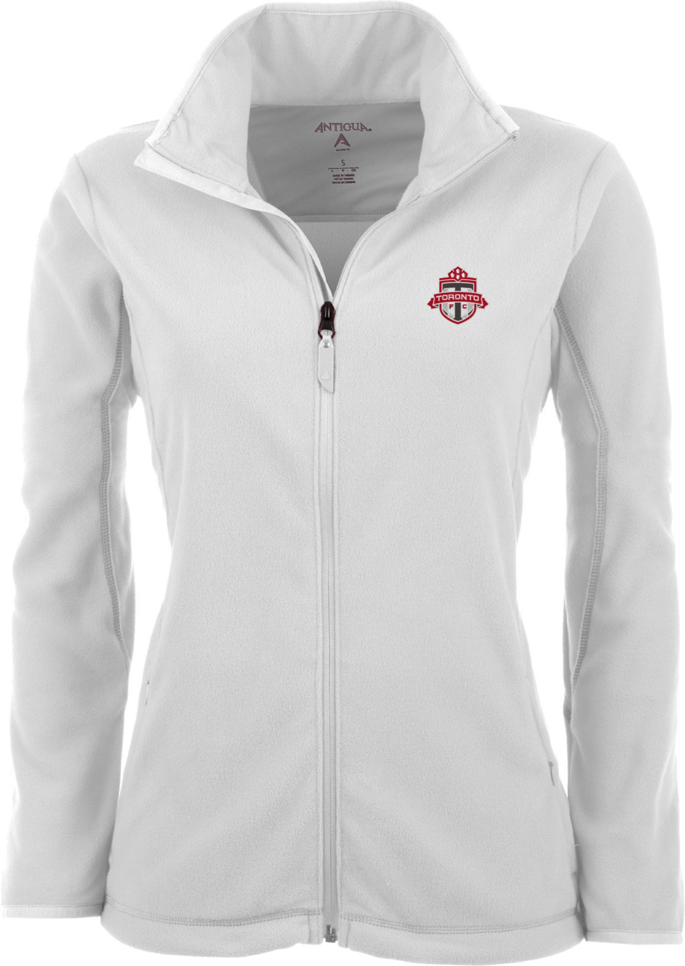 Antigua Women's Toronto FC White Ice Full-Zip Fleece Jacket