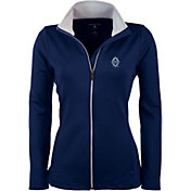 Antigua Women's Vancouver Whitecaps Navy Leader Full-Zip Jacket