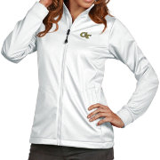 Antigua Women's Georgia Tech Yellow Jackets White Performance Golf Jacket