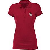 Antigua Women's Oklahoma Sooners Crimson Spark Polo