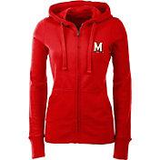 Antigua Women's Maryland Terpains Red Full-Zip Hoodie