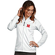 Antigua Women's Nebraska Cornhuskers White Performance Golf Jacket